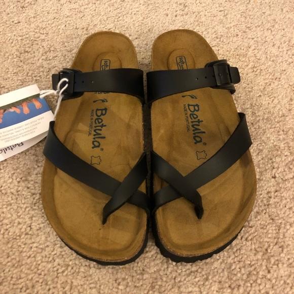 003198470 Women s Betula by Birkenstock Black Sandals Size 7